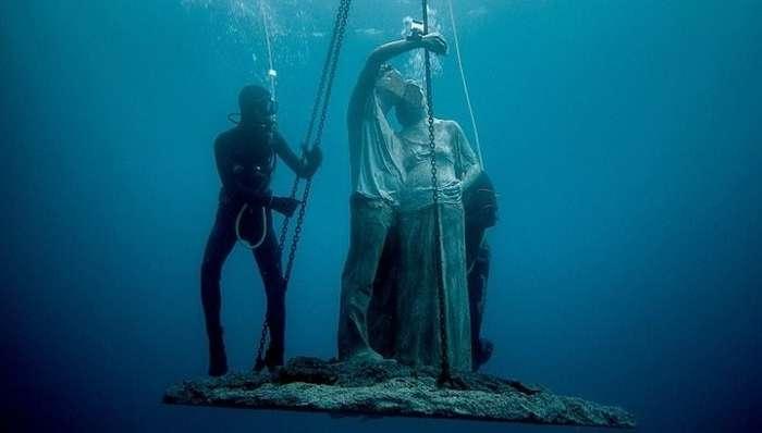 Искусство на дне океана: в Европе открылся первый подводный музей-7 фото + 1 видео-