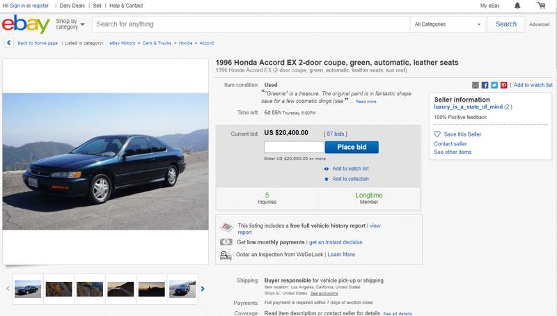 Парень снял рекламу поддержанного автомобиля и цена поднялась до 20 000$-5 фото + 1 видео-