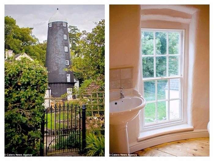 В Великобритании продается необычный дом - 5-этажная ветряная мельница 19 века-9 фото-