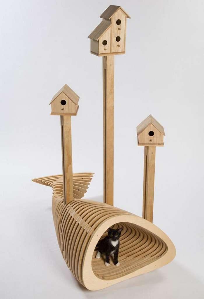 12 домов для кошек, созданных архитекторами в благотворительных целях-14 фото-