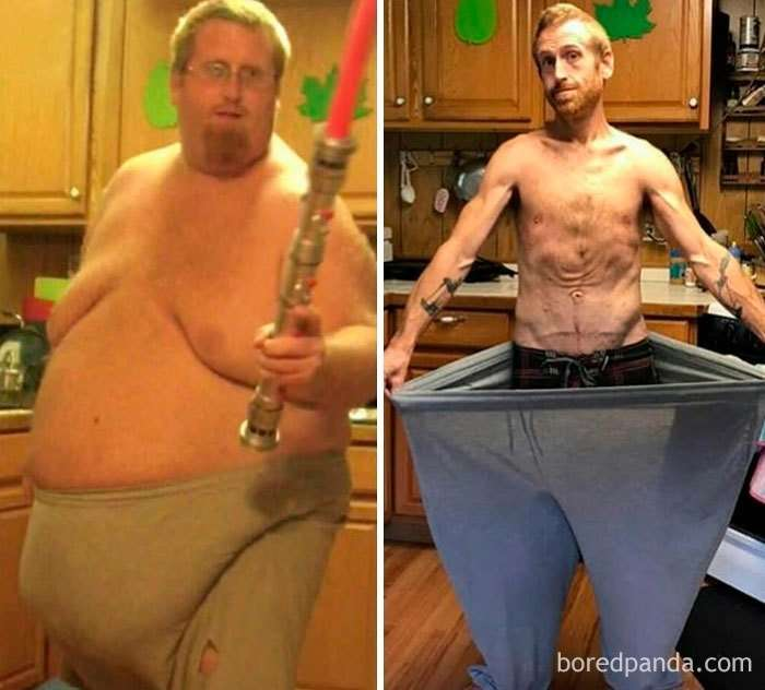 35 удивительных превращений толстяков в стройняшек-35 фото-