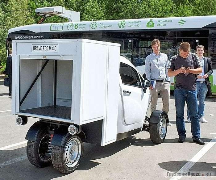 В -Сколково- разработали легкий грузовой электромобиль-5 фото-