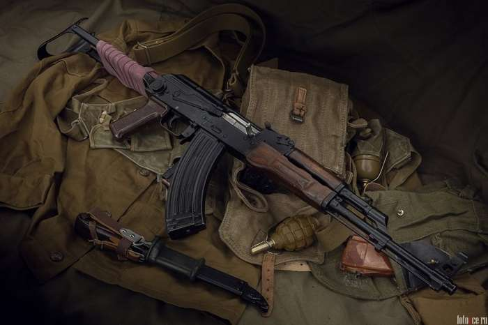 АКМС автомат для советского десанта-6 фото-