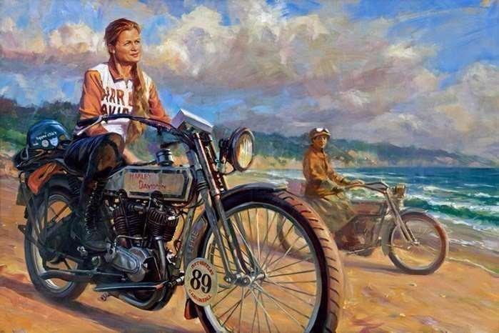 Дэвид Уль — официальный художник Harley-Davidson-8 фото-