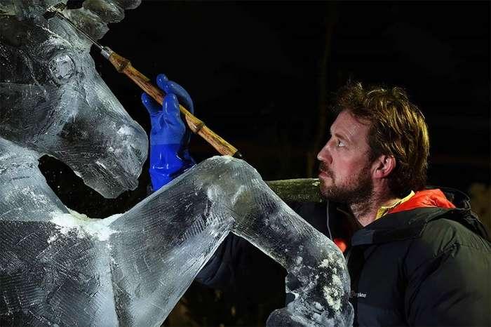 Невероятные ледяные скульптуры Даррена Джексона-9 фото-
