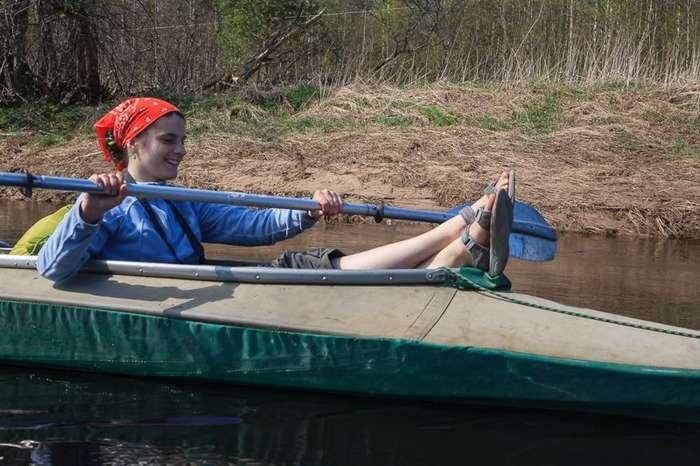 Очень интересный поход по реке Опять на лодках-92 фото-