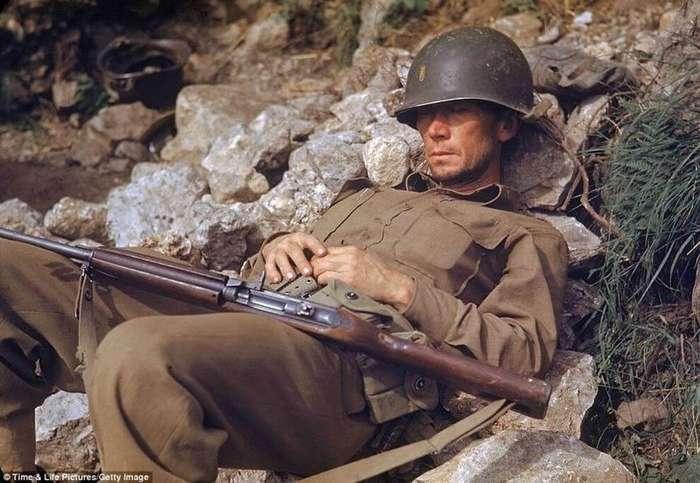 Редкие цветные фотографии Итальянской кампании во время Второй мировой войны-10 фото-