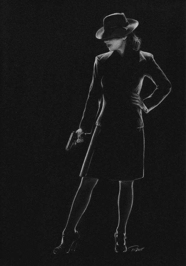 Эстонская художница Мэрилин Паугус рисует белым карандашом на черной бумаге-20 фото-