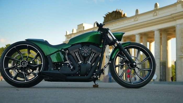 Vinci - кастом на базе Harley Davidson Softail-5 фото + 1 видео-