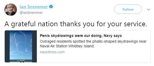 ВМС США пришлось извиниться за нарисованный в небе пенис-5 фото + 2 видео-