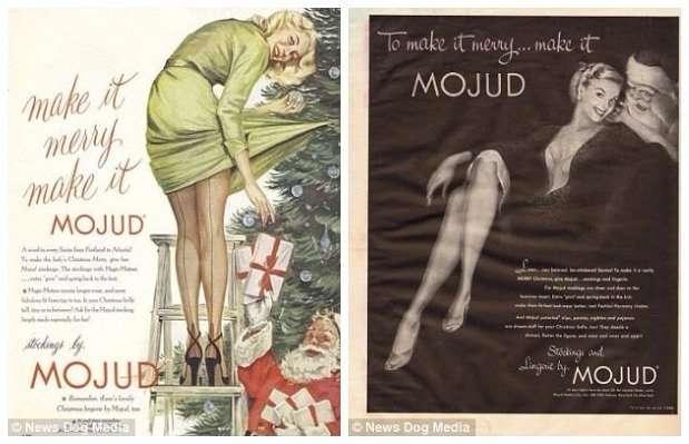 Сексистская рождественская реклама 50-х и 60-х годов-14 фото-