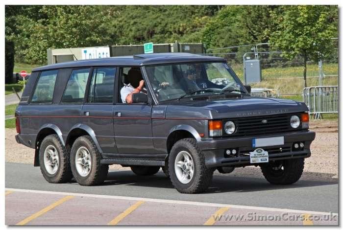 Шестиколесный Range Rover из 80-х-5 фото-