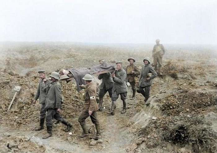 Первая мировая война предстала в полном цвете-25 фото-
