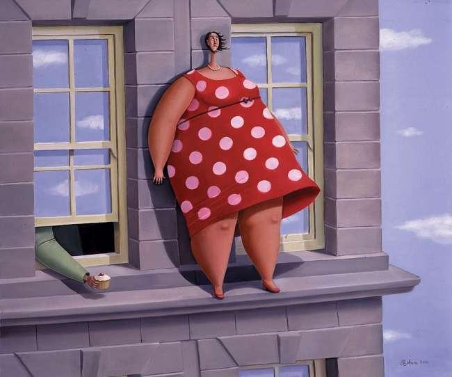 22картины отхудожницы, которая считает, что толстушки счастливее худых