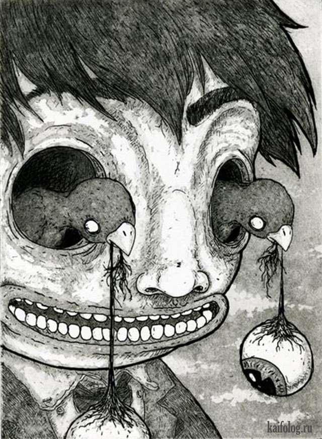 Очень странные картины и рисунки (45 картинок)