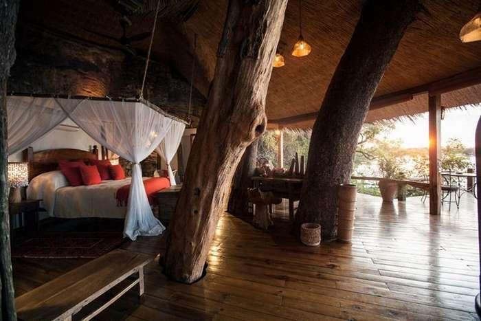 Поразительный дом на дереве в Замбии
