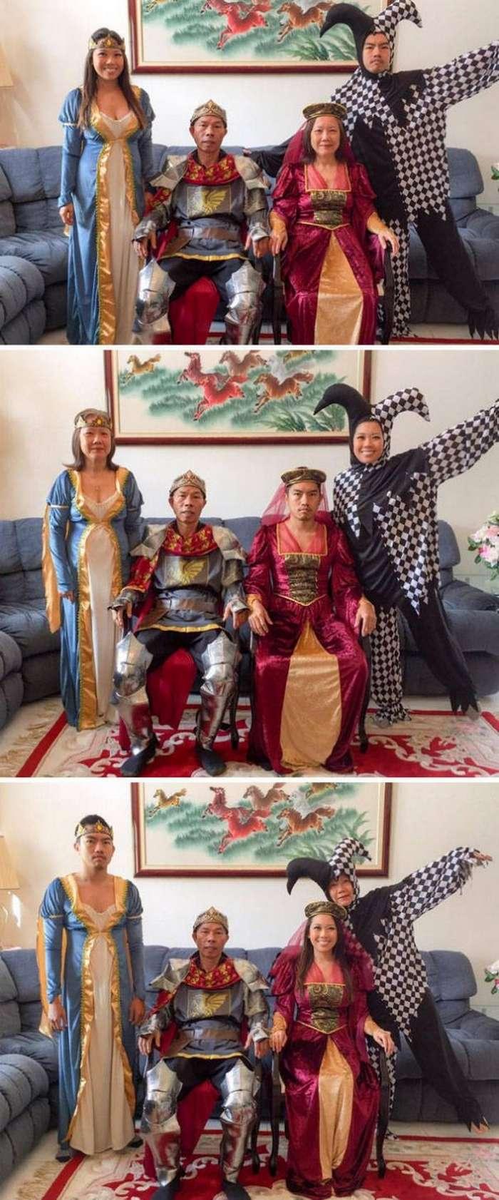 Оригинальный фемели-лук на праздник Хэллоуин