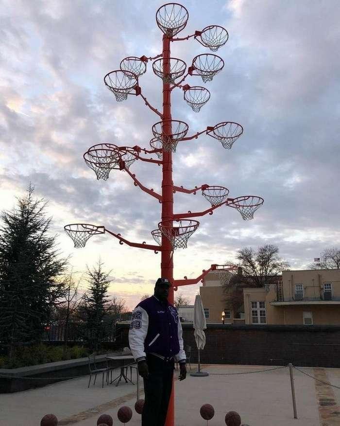 Шакил О&8217;Нил показал &171;дерево&187; из баскетбольных колец