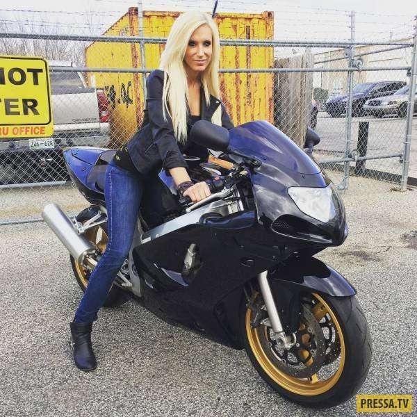 Эта красивая блондинка Malorie Woods работает механиком (21 фото)