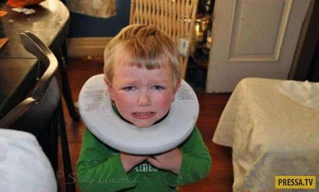 Детишки-шалунишки: забавные и пугающие снимки детей (22 фото)