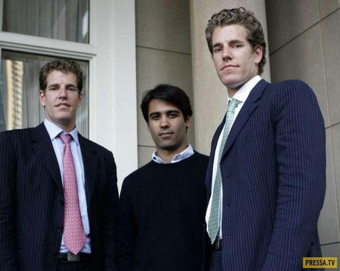 Братья-близнецы Кэмерон и Тейлор Уинклвосс - первые в мире биткоиновые миллиардеры (7 фото)