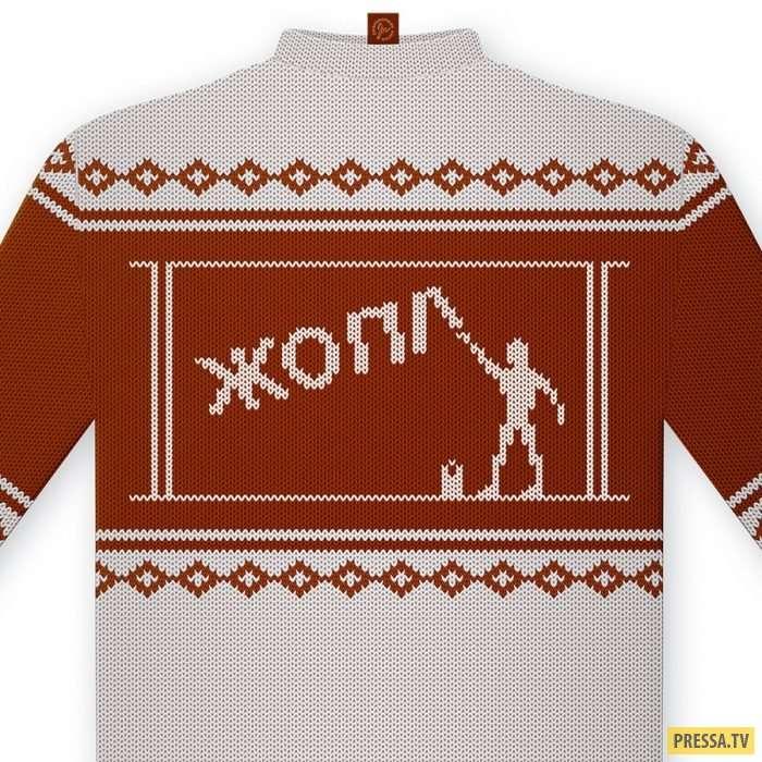 Новые прикольные варианты классических рождественских свитеров (15 фото)