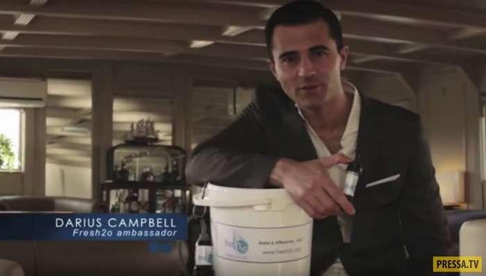 Попил водички из Темзы! Британский актер и певец Дарюс Кэмпбелл чуть не умер во время съемок рекламного ролика (6 фото + видео)
