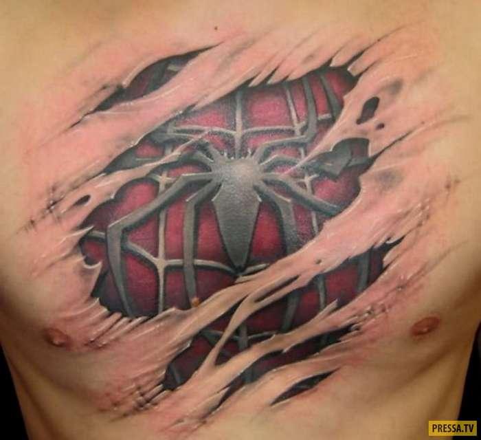 Потрясающие 3D-татуировки (14 фото)