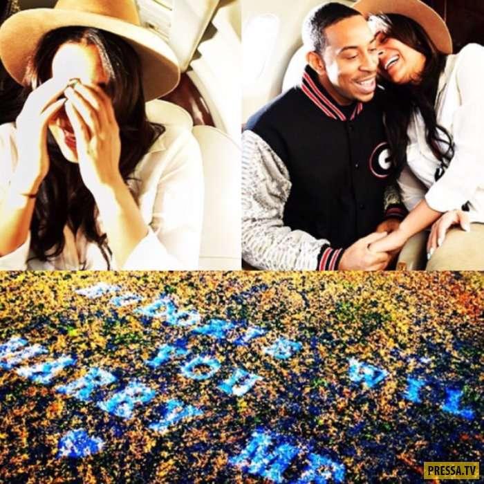 Романтические и трогательные предложения руки и сердца знаменитостей (11 фото)