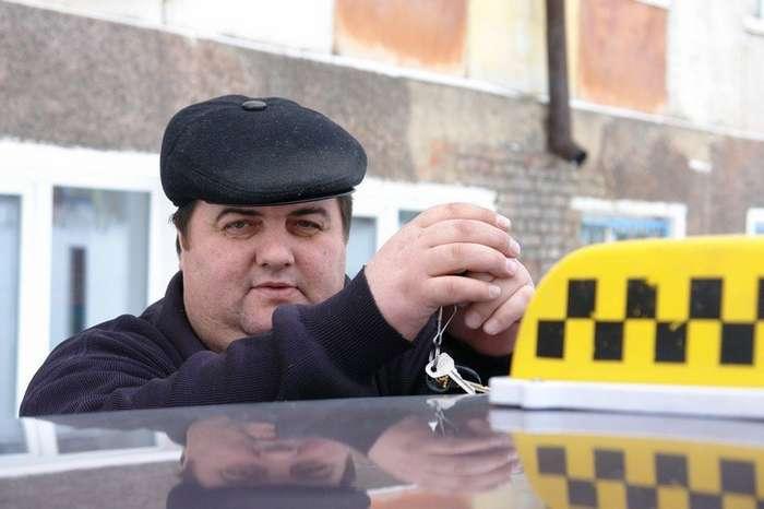 """""""Сладкая парочка"""" в такси"""