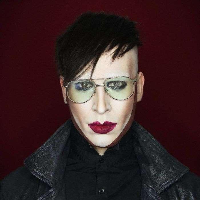 Парень-визажист с помощью макияжа превращается в любую знаменитость