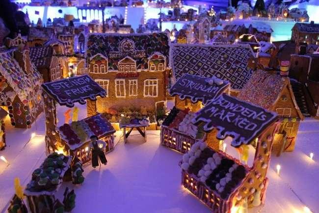 Жители Норвегии каждый год строят один итотже город, нонеобычный, апряничный