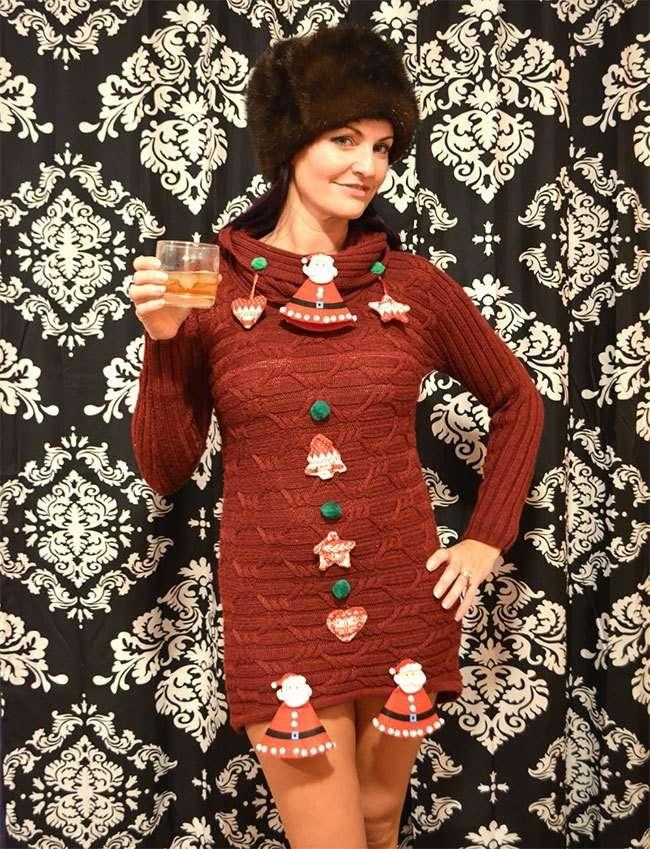 Нелепые и откровенные рождественские свитеры, в которых вы не останетесь незамеченными-27 фото-
