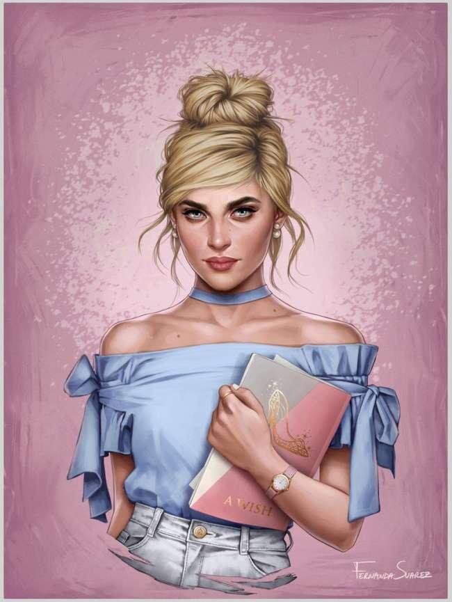 Чилийская художница представила, как выгляделибы принцессы Disney внаши дни
