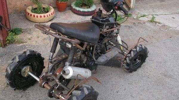 Квадроцикл из скутера-12 фото + 1 видео-