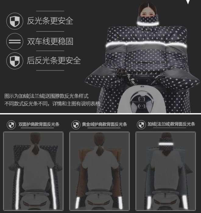 Накидка из Китая для мотоциклистов защитит от холода и грязи-9 фото-
