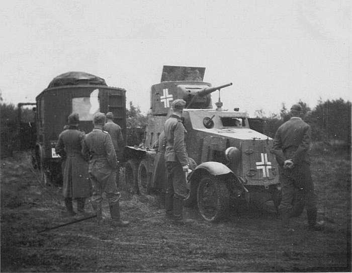 Советские бронеавтомобили предвоенного и военного периода-35 фото-
