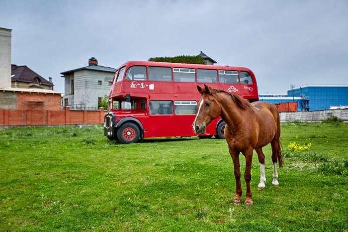 Английский автобус 1964 года, настоящий даблдэкер в Москве!-26 фото-