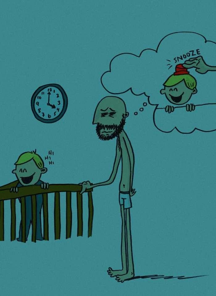 Мужчина создал иллюстрации, раскрывающие все прелести отцовства-12 фото-