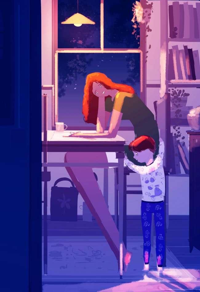 25иллюстраций, которые объясняют космическую связь между мамой иребенком