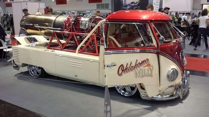 Volkswagen 1958 года с реактивным двигателем-5 фото + 1 видео-