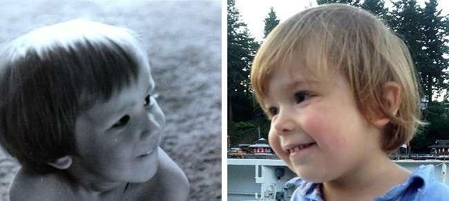 30семейных фотографий, накоторых видно, что такое гены