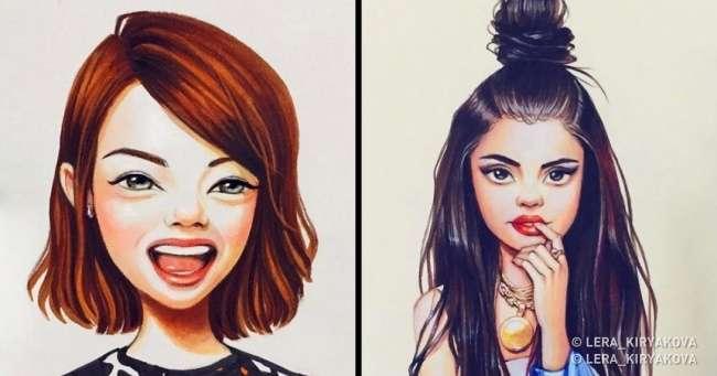 Российская художница показала, какбы выглядели наши любимые актеры, еслибы были мультяшками