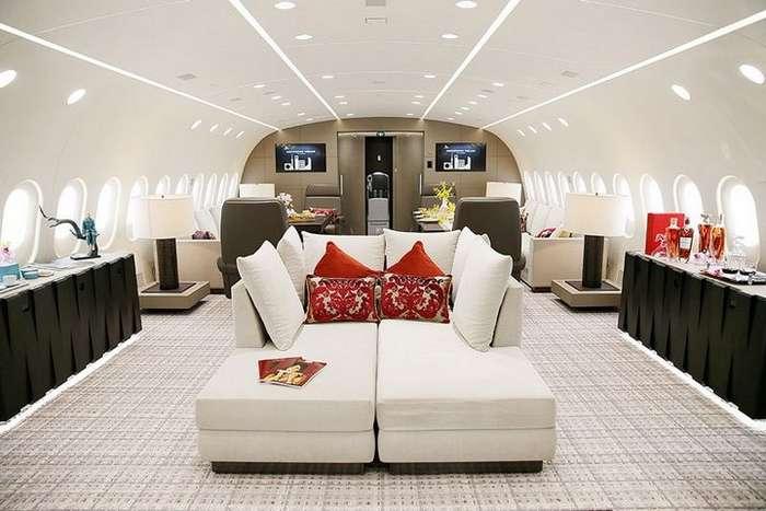 Роскошный интерьер Boeing 787-8 Dreamliner