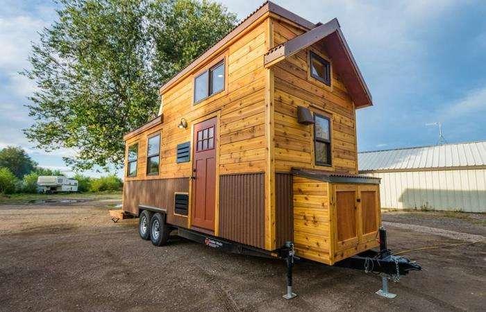 Дом на колесах, который можно взять с собой в путешествие или поставить на даче