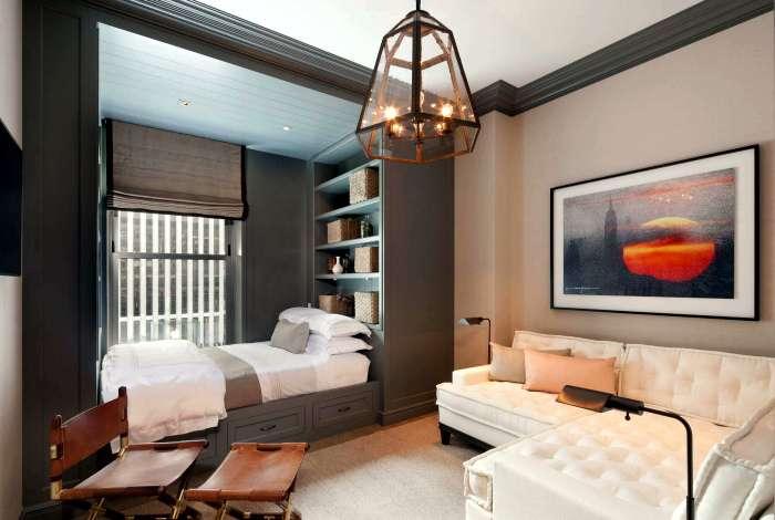 Гостиная, совмещенная со спальней: Как не превратить комнату в -вокзал- (19 фото)