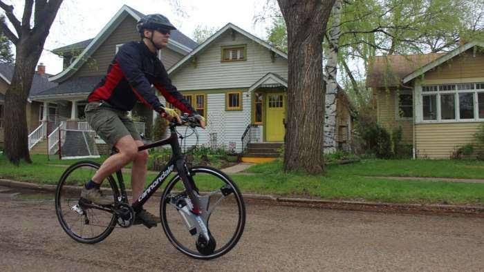 -Волшебное- колесо для велосипеда, с которым педали крутить больше не придется