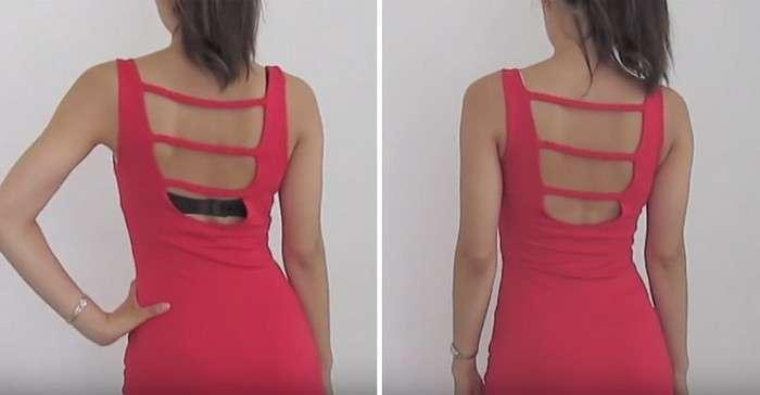 Как спрятать бюстгальтер под открытым платьем: гениальный лайфхак, который точно необходим каждой девушке