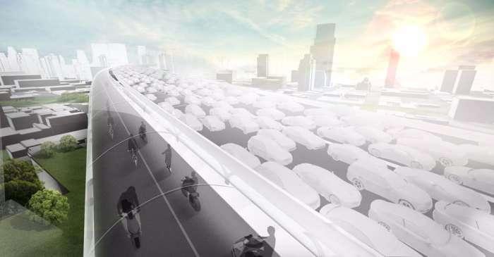 Немцы готовы построить -небесное- шоссе, чтобы избавить города от пробок и заторов