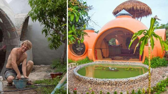 Парень построил дом всего за 1,5 месяца, и он обошелся ему всего в 9000 -зеленых-